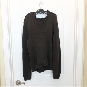 Talbots Knit Pull Over Hoodie Brown Size XL